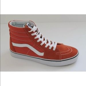 VANS SK8 HI AUTUMN ORANGE SNEAKER SHOES MEN 9